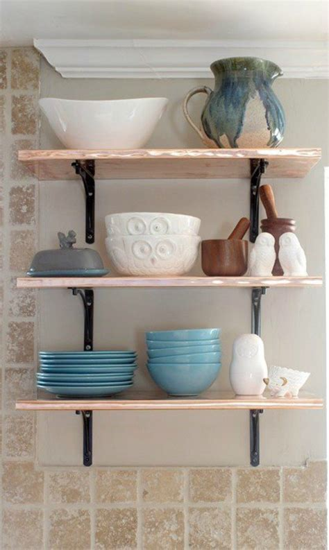 with shelves 15 clever ways to add more kitchen storage space with open shelves hometalk