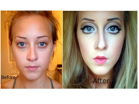 real barbie before and after real life barbie makeup dolls make up