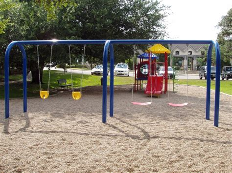 bay swing arched 2 bay swing commercial playground equipment