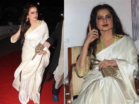 Bolly Top Mustard 10 gorgeous rekha silk sarees we boldsky