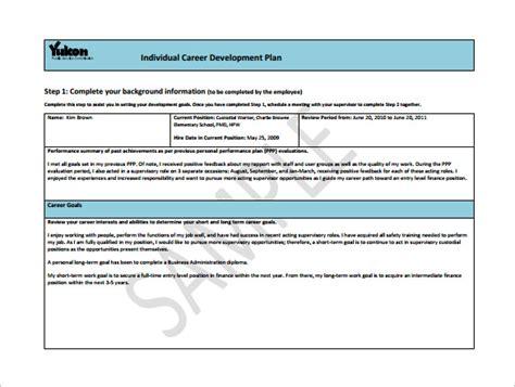 career planner template 12 career development plan templates free sle