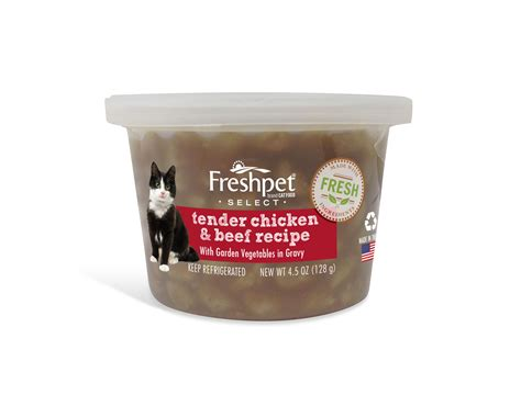 freshpet food reviews freshpet freshpet 174 select tender chicken beef with garden vegetables cat food recipe