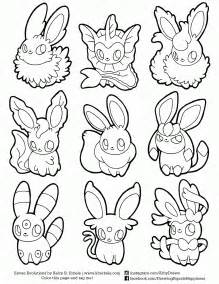 coloring pages eevee evolutions coloring home