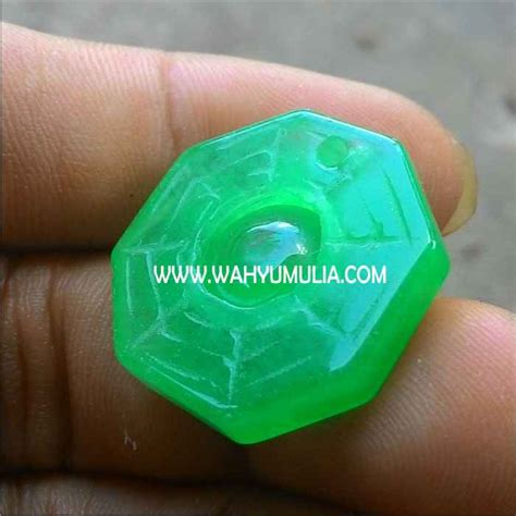 Batu Akik Giok Patkwa 024 liontin batu giok hijau patkwa asli kode 262 wahyu mulia