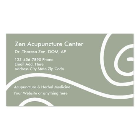 Acupuncture Medical Business Cards Chinese Medicine Business Cards Pinterest Business Acupuncture Business Cards Templates