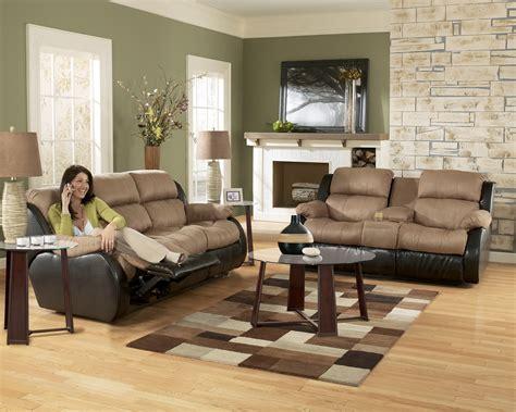 ashley furniture presley  cocoa living room set furniture pm