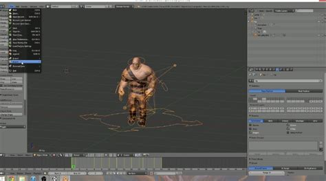 animation tutorial in unity export an animated character from blender to unity