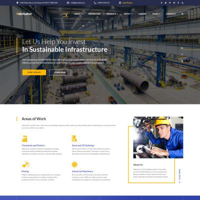 web design for manufacturing companies industrial templates