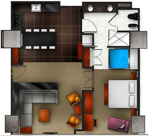 elara one bedroom suite one bedroom floor plan for elara hilton grand vacations