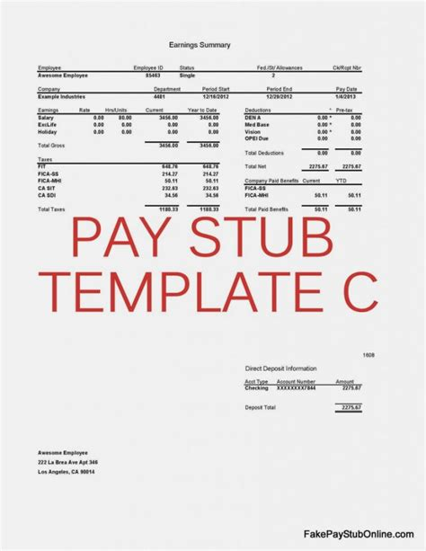 Microsoft Office Pay Stub Template by Pay Stub Templatememo Templates Word Memo Templates Word