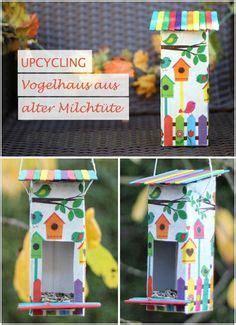 upcycling vogelhaus aus milchtuete bird house