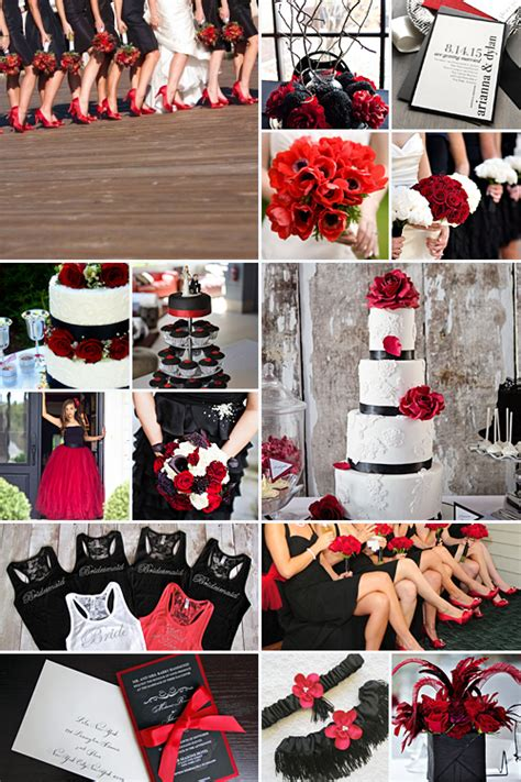 wedding themes red black and white black and red weddings