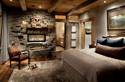Master Bedroom Fireplace Ideas by 23 Rustic Bedroom Design Photos Beautyharmonylife