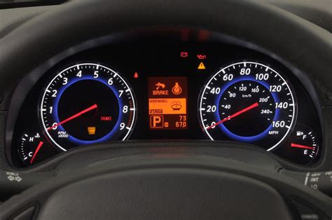electric power steering 2009 infiniti g instrument cluster 2007 infiniti g35 sedan gauges picture pic image