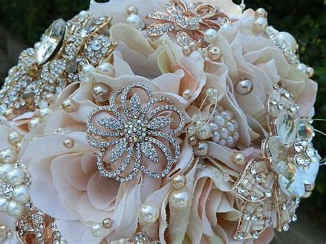 Blush Pink Rose Gold Brooch Bouquet  $495.00 (Promo Full