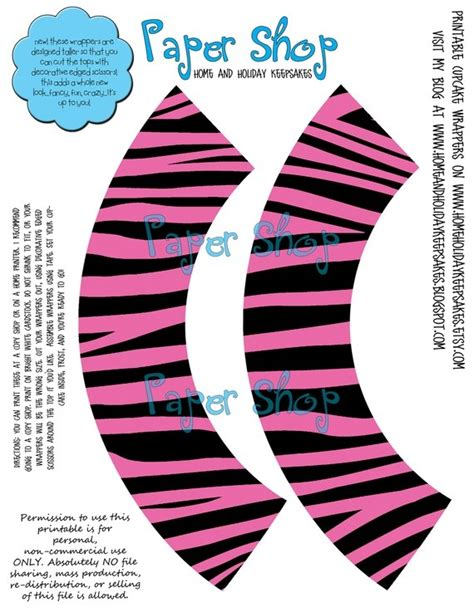 printable zebra cupcake wrappers 1000 images about cup cake wrapers on pinterest bottle