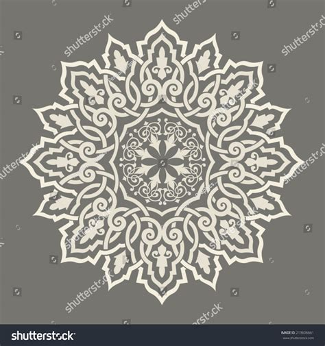 islamic round pattern vector round pattern mandala abstract design persian stock vector