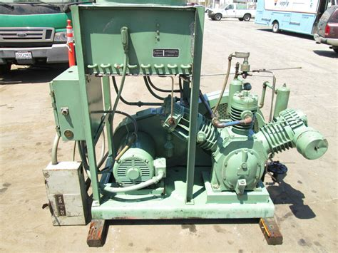 ingersoll rand 20 h p industrial reciprocating air compressor with aftercooler ebay