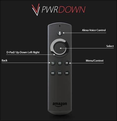 basic fire stick remote controls tips  kodi pwrdown