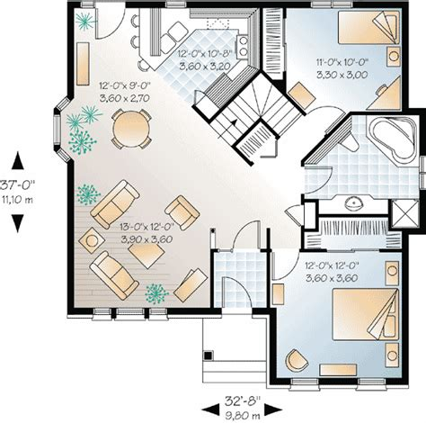 open floor plan small house open floor small home plans canadian narrow lot metric european house plans home
