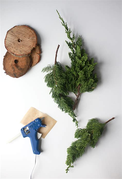 diy fresh mini christmas trees from tree lot scraps