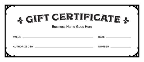 gift certificate template for pages gift certificate templates free gift