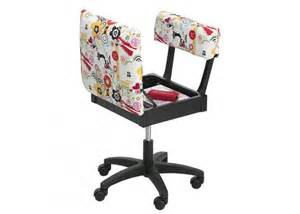 sewing chairs horn limited edition gaslift sewing chair white patterned