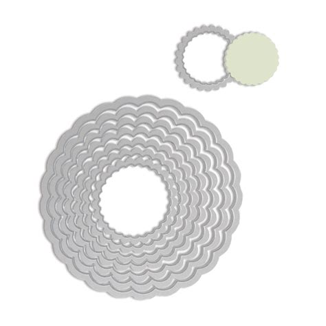 staples scallop cards template sizzix scallop circles framelits die cutting template