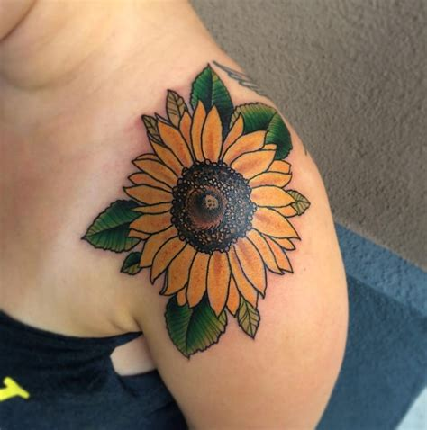 appealling sunflower tattoo creativefan