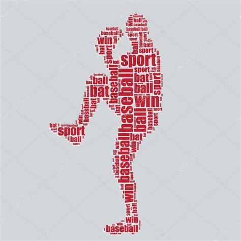 typography vector baseball typography 3d text word baseball vector