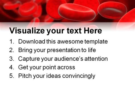 powerpoint themes free download blood blood cells medical powerpoint template 0610