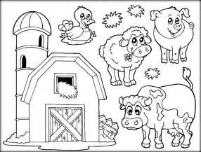 farm animals coloring sheets color zini
