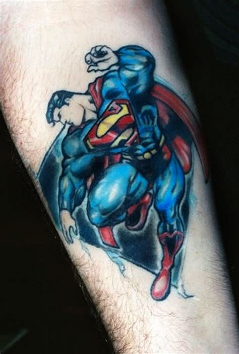 justice league tattoos 25 superman for the in you