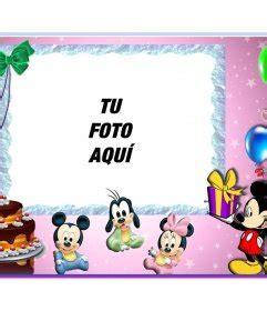 imagenes feliz cumpleaños mickey mouse postal infantil de feliz cumplea 241 os con mickey mouse