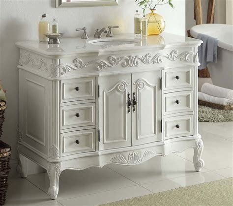 Bathroom Vanities 4 Less by 42 Quot W X 22 Quot D X 36 Quot H Antique White Ccf3882waw42 Free Shipping