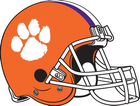 clemson football colors helmet clipart clemson football pencil and in color