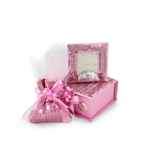 cornice argento battesimo bomboniera cofanetto cornice rosa argento