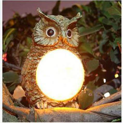 Owl Garden Decor Solar Powered Owl Led Light Outdoor Garden Decor Statue Landscape L Alex Nld