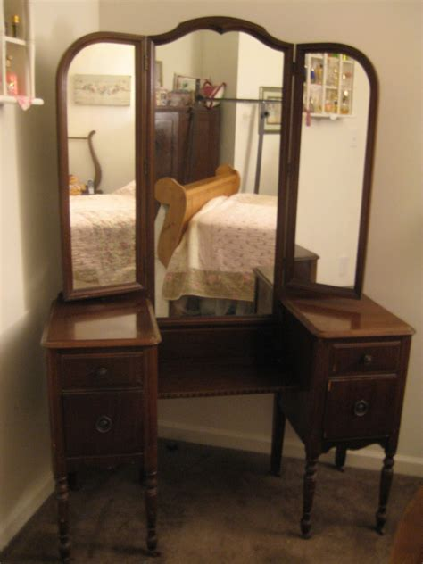 vanity with antique vanity with tri fold mirror antique furniture