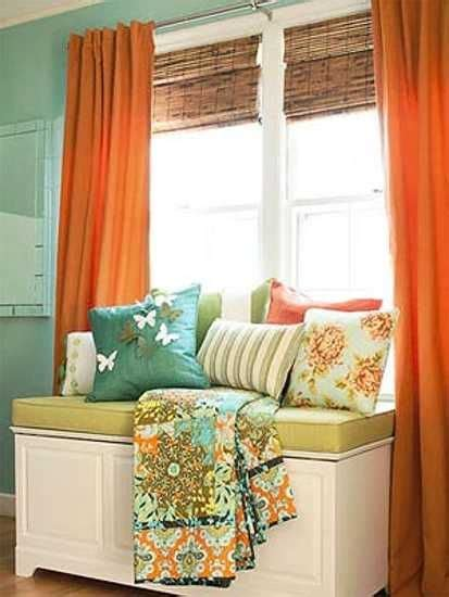 wall and curtain colour combination terracotta orange colors and matching interior design