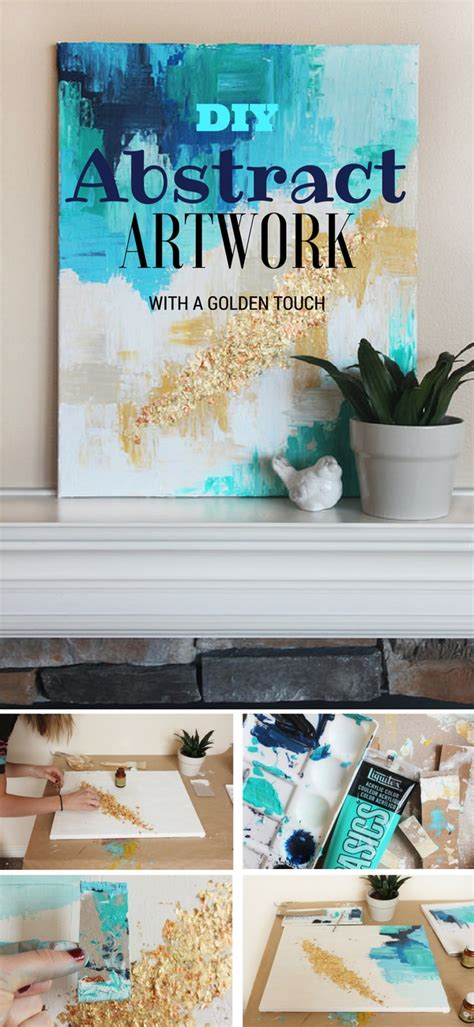 home decor tutorial diy abstract art