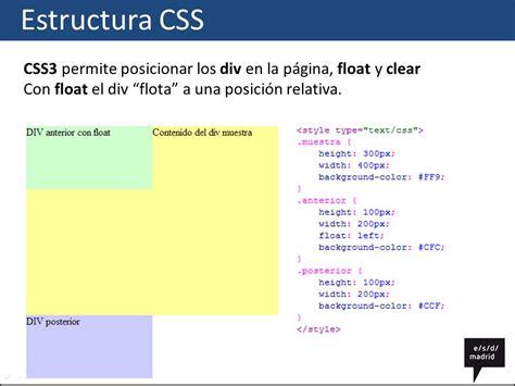 html div clear css estructura ppt descargar