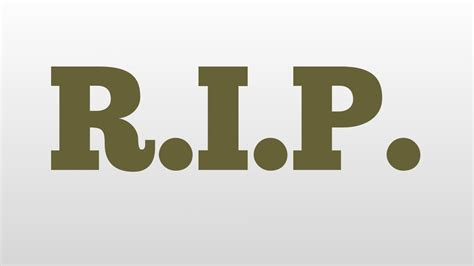 r i p r i p meaning and pronunciation