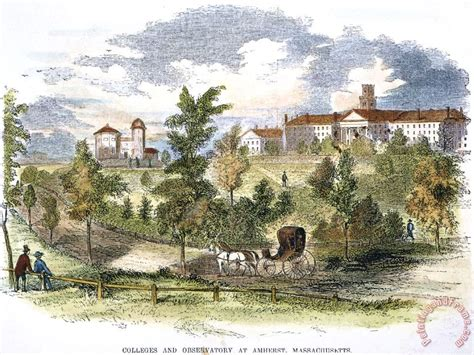 amherst college others amherst college 1855 painting amherst college 1855 print for sale