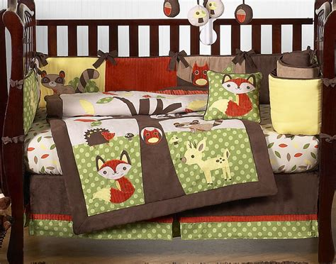 Woodland Crib Bedding Sets Woodland Creatures Forest Friends Woodland Animals Baby Bedding 9 Pc Crib Set Mitch