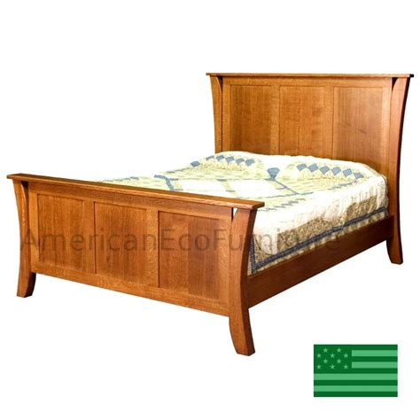 amish corsica panel bed solid wood made in usa