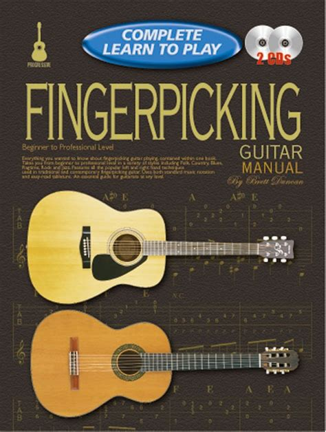 learn guitar yourself progressive complete learn to play fingerpicking guitar manual