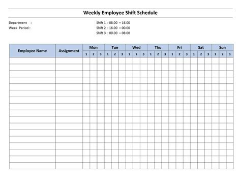 Employee Shift Scheduling Spreadsheet And Free Monthly Work Schedule Template Weekly Employee 8 Personnel Chart Template