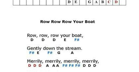 row your boat trumpet row row row your boat fun and easy keyboard pinterest