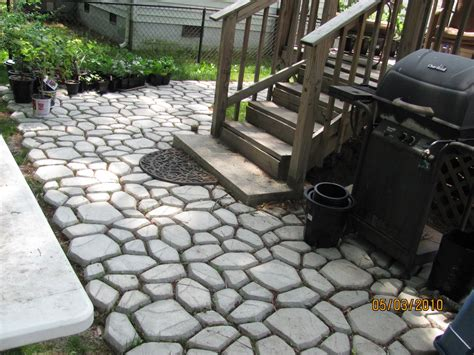 Patio Paver Molds Backyard Patio Ideas Conglua Outdoor Escapes E J Concrete And Dirt Work Front Yard Landscaping